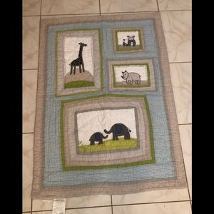 Pottery Barn Kids Jungle Crib Quilt